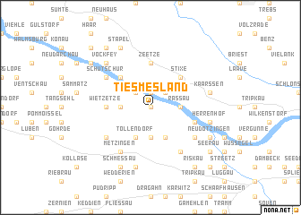 map of Tiesmesland