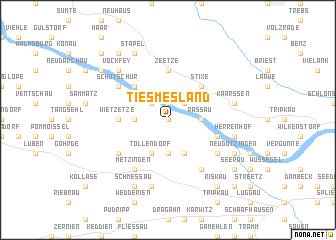 map of Tiesmesland