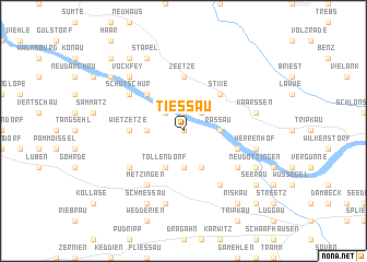 map of Tießau
