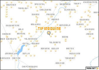 map of Tifiraouine