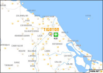 map of Tigayon