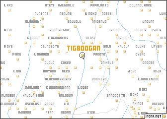 map of Tigbo Ogan