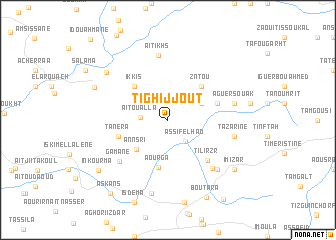 map of Tighijjout
