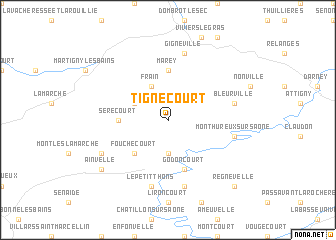 map of Tignécourt