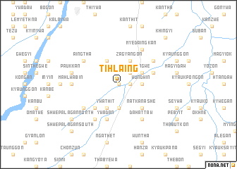 map of Tihlaing