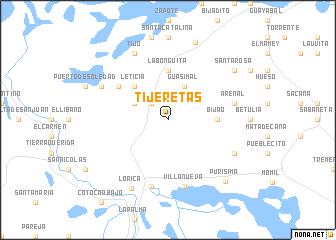 map of Tijeretas