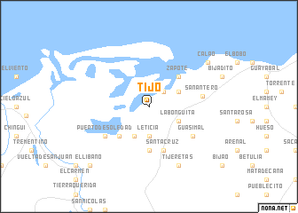 map of Tijó