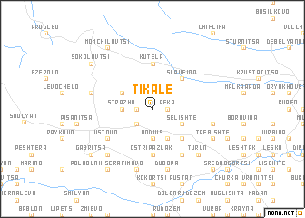 map of Tikale
