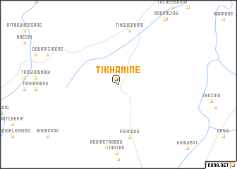 map of Tikhamine