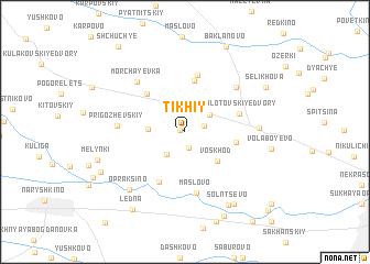 map of Tikhiy