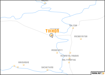 map of Tikhon