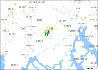Tiko cameroon map nona map of tiko ccuart Image collections