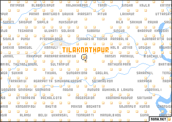 map of Tilaknāthpur