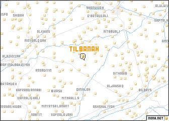 map of Tilbānah