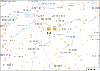 map of Tilbānah