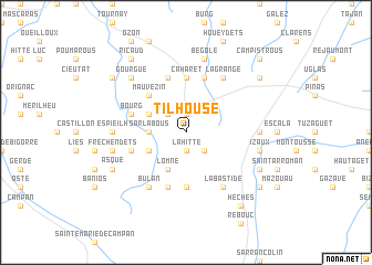 map of Tilhouse