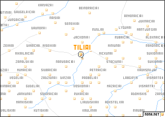 map of Tiliai