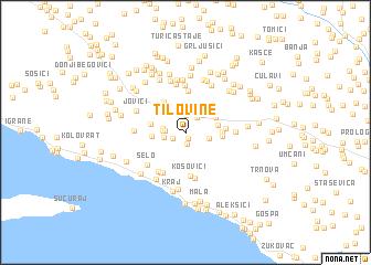 map of Tilovine