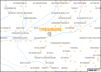 map of Timediouine