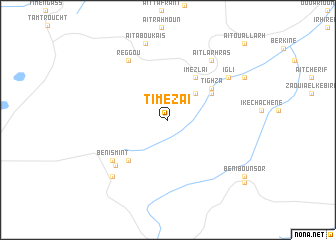 map of Timezaï