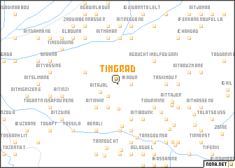 map of Timgrad