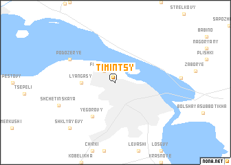 map of Timintsy
