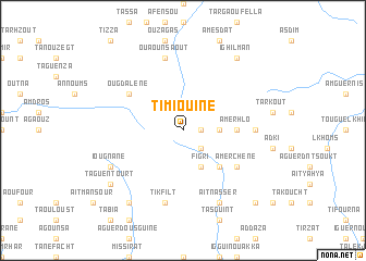 map of Timiouine