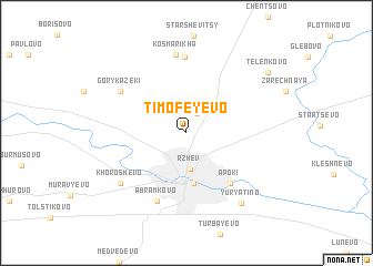 map of Timofeyevo