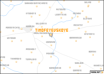 map of Timofeyevskoye