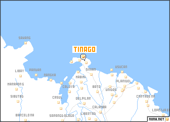 map of Tinago
