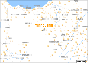 map of Tinaguban