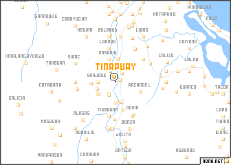 map of Tinapuay