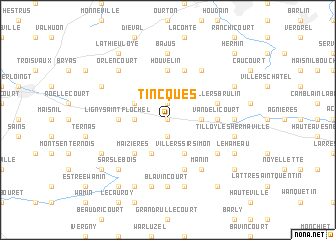 map of Tincques