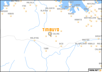 map of Tinibuyo