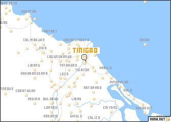 map of Tinigao
