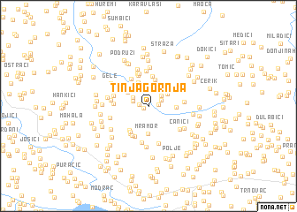 map of Tinja Gornja