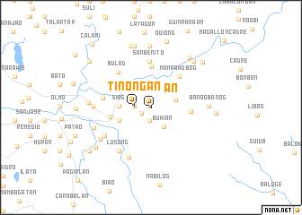 map of Tinongan