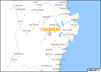 map of Tinubagan