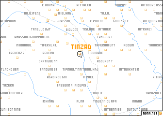 map of Tinzad