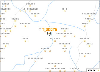 map of Tiokoye