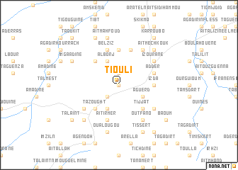 map of Tiouli