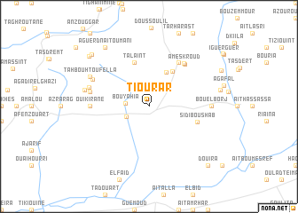 map of Tiourar