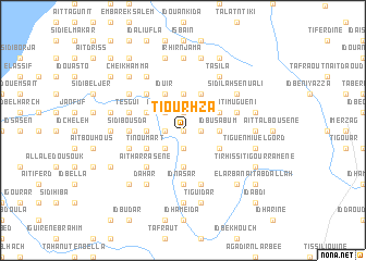 map of Tiourhza