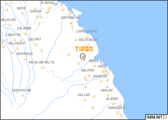 map of Tipan