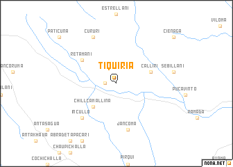 map of Tiquiria