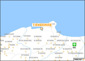 map of Tirhanimîne