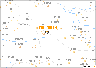 map of Tirwanish