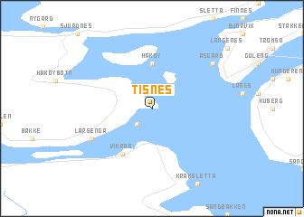 map of Tisnes