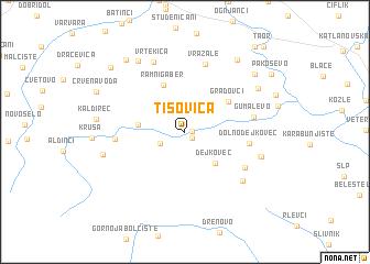 map of Tisovica