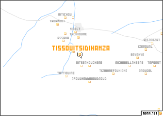 map of Tissouit Sidi Hamza
